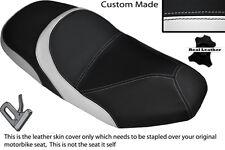 BLACK & WHITE CUSTOM FITS SYM JOYRIDE 125 200 EVO DUAL LEATHER SEAT COVER ONLY