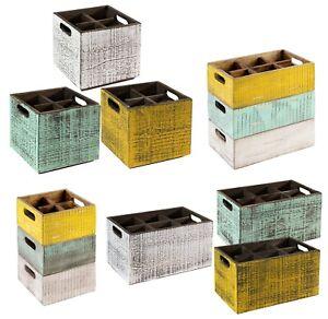 Tisch-Caddy-VINTAGE-Holz-Box-Aufbewahrung-stapelbar-4-Groessen-3-Farben-Gastlando