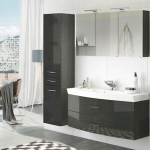 Details zu Badezimmer Badmöbel Set 120cm Waschtisch Unterschrank  Spiegelschrank Hochschrank