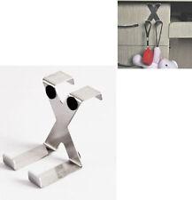 NEW Stainless Steel Over the Door X Dual Hanger Hook Drawer Cabinet Gift