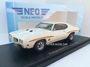 Néo Échelle Modèle 1/43 Pontiac Gto Le Juge 1978 Weiss Art.   45985