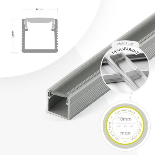1-2m Trockenbau Profil für LED Streifen LED Leucht Schiene Alu