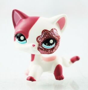 Littlest Pet Shop White Cat With Hair