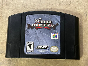 WWF No Mercy Auténtico Original Equipment Manufacturer Nintendo 64 2000 N64 Lucha Libre Wf