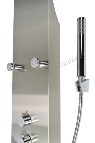 Stainless Steel Shower Panel Rain Style Massage Jets Simultaneous Shower System