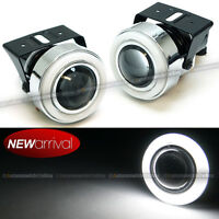 For H3 H1 3 Hi Power Neon Halo Super White Projector Driving Fog Light Set