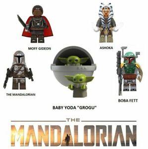 Star Wars building blocks Jedi Mandalorian Vader Yoda Obi Darth Clone Boba Fett