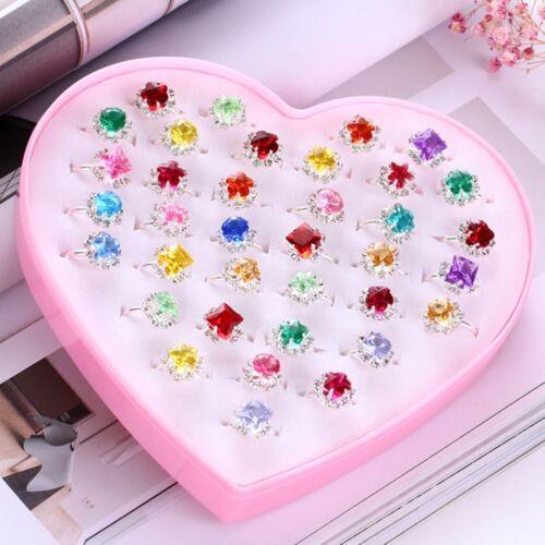 1 Set Enfants Princesse Gem Cristal Bague Fille Fête D/'Anniversaire Bijoux Cadeaux Jouets