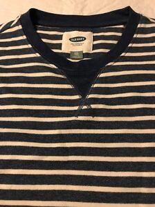 3bdbd7058dd Old Navy Men s Sweater Blue White Striped Popover Henley Size XXL ...