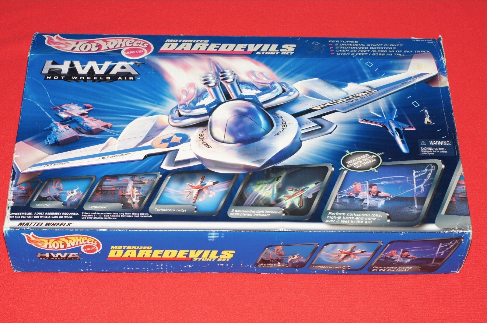 1999 Hot Wheels de Mattel aire motorizada Darossoevils Stunt avión Conjunto Nuevo Sellado