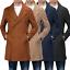 Cappotto-Doppio-Petto-Uomo-Invernale-Cappottino-Elegante-Lungo-Trench miniatura 1