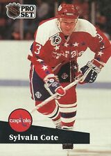 Sylvain Cote 1992 NHL Pro Set French Trading Card #512 Washington Capitals