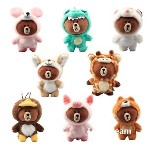 Cosplay-Brown-Bear-with-Suit-Cuddly-Plush-Toy-Stuffed-Doll-Keychain-Keyrings