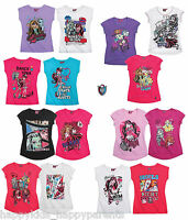 New Girls Official MONSTER HIGH Top T- Shirt Age 7 8 9 10 11 12 13 14 Years BNWT