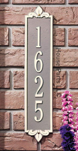 Whitehall Products Personalized Lyon greenical Plaque Address Number House New