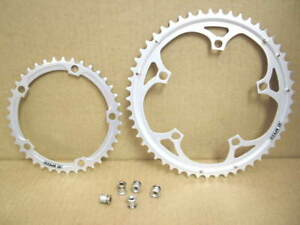 ...Five-Arm Compatible w//Century Gray NOS Campagnolo Ultra Drive Chainring 52T