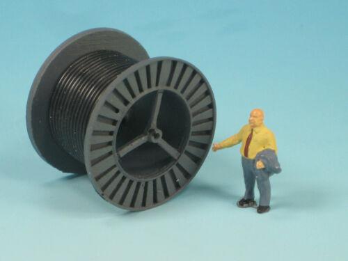 Duha enormemente-spur h0 11363 a-grises cable tambor con cable negro