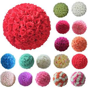20cm-Artificial-Flowers-Rose-Flower-Balls-Topiary-Hanging-Basket-Plant-Home-Dec