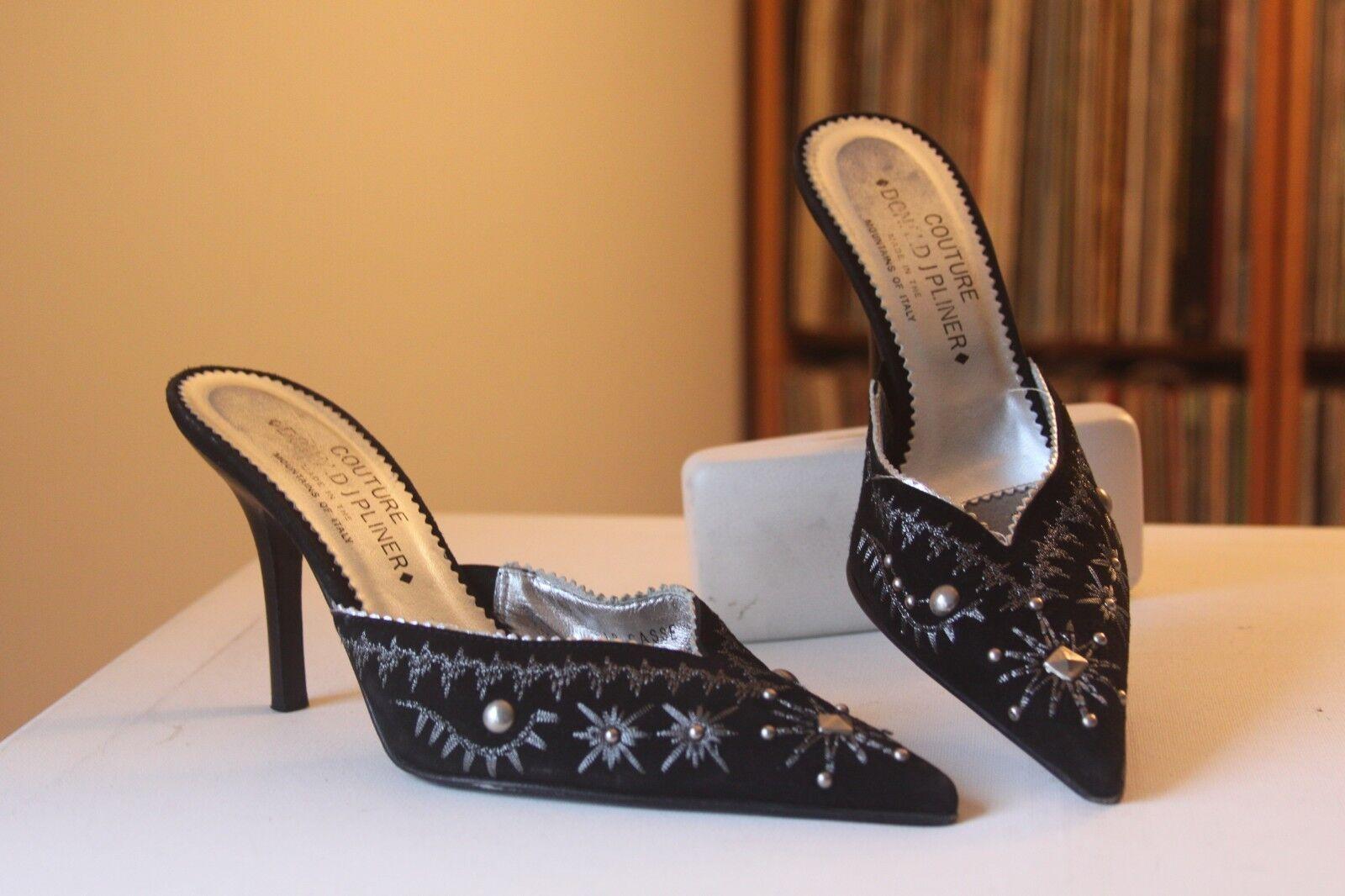 Donald J J J Pliner Couture quiebra Gamuza Negra adornado Tacones De 4 pulgadas tamaño 8.5 M  Compra calidad 100% autentica