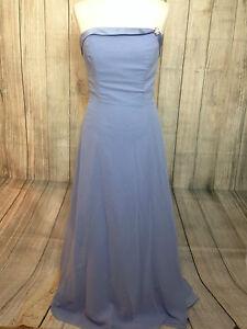 Belle Bleu Ciel Alfred Angelo Robes De Bal Bal Demoiselle D'honneur Robe Blouse Taille 12-afficher Le Titre D'origine Lustre Brillant