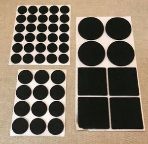 Image Is Loading ASSORTED 50 SELF ADHESIVE FELT PADS WOOD PROTECTION