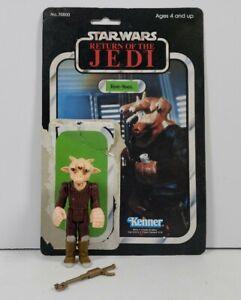 Vintage-Star-Wars-Kenner-1983-ROTJ-Ree-Yees-Complete-w-Original-Card-Back