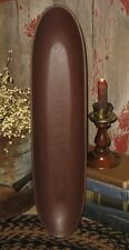 Long Wood Dough/Candle/Bread BOWL/Tray*BURGUNDY*Primitive Centerpiece Decor