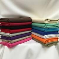 CANVAS Solid Plain Coloured 100% Pure Cotton 150cm sold Per Metre in 16 colours