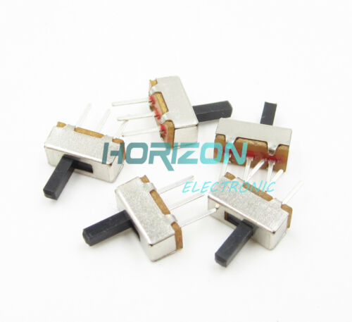 100pcs SS12D00G4 SPDT 1P2T 2 Position 3 Pin PCB Panel Vertical Slide Switch Best