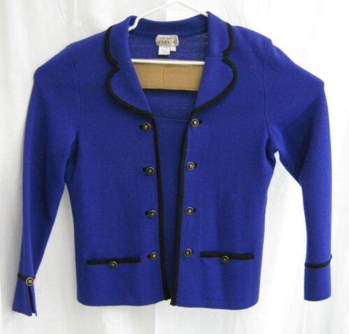 Blend Top Papell Blue Adrianna Blazer Colbalt Taglia Wool Large 1EIx1Hwdq