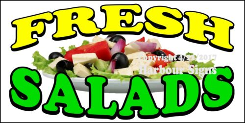 CHOOSE YOUR SIZE Fresh Salads DECAL Concession Food Truck Sticker