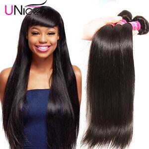 Image Is Loading Unice 3 Bundles 8a Malaysian Straight Hair 300g