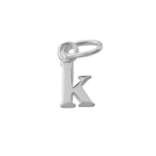 Alphabet Charm Lowercase 'k' 925 Sterling Silver 9x5mm Pack of 1 (Q45/11)