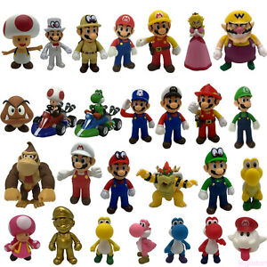 "New Super Mario Bros Bowser Koopa Plastic PVC Figure Doll Toy Collectible 9/"" 4/"""