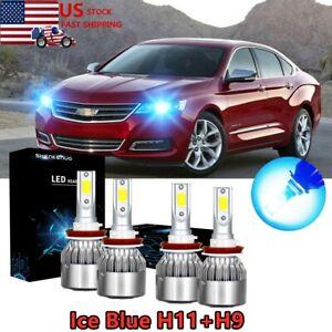 Ice Blue Led Headlight Bulb High Lo Beam C6 For Chevy 2006 2013 Impala 2004 2007 Ebay