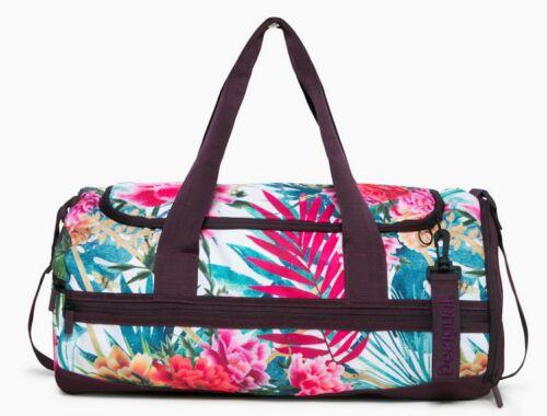 SPORTTASCHE Aufschrift Authentic San Diego Tasche weiss grün rot Reisetasch