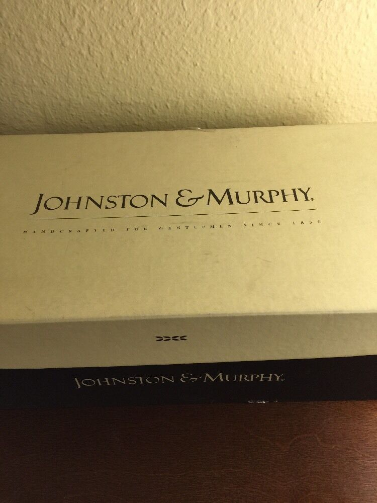 Johnston & Murphy MAHONY  Mens Brando Brown US sz 11 Made In ITALY