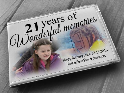 """libro di memoria Personalised album fotografico 6x4/"""" x 36 foto 21st regalo di compleanno"""