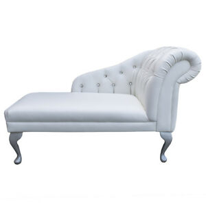 Image Is Loading 45 034 Small Chaise Longue Lounge Sofa Bench