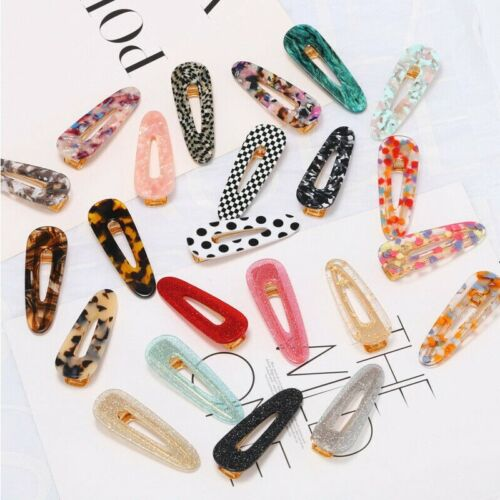 New Fashion Women/'s Hair Slide Clips Snap Barrette Hairpin Pins Hair Accessories