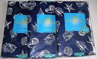 Coastal Vinyl Tablecloths Seashells Assorted Sizes