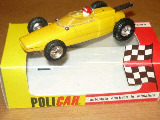 POLICAR P51 LOTUS F1 GIALLO AUTOMODELLO SLOT CAR PISTA ELETTRICA SCALA 1 32