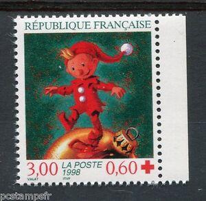 Brillant France - 1998 Timbre 3199a Croix Rouge De Carnet Neuf** Facile à RéParer