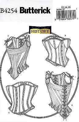 Butterick Making History Sewing Pattern Misses' Stays Corset Sizes 6 - 22 B4254