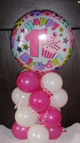 Globo de la Hoja Decoración De Mesa Pantalla Feliz 1ST Cumpleaños edad 1 aire no helio RW