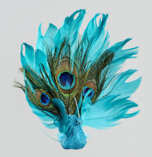 Gisela Graham Blue Tit Bird with Feather Tail on a Clip 4cm Easter//Weddings