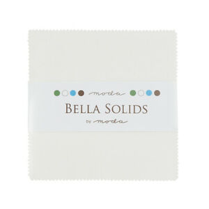 """42 x 5/"""" square Plain Solid Optic White Fabric Charm Pack 100/% cotton"""