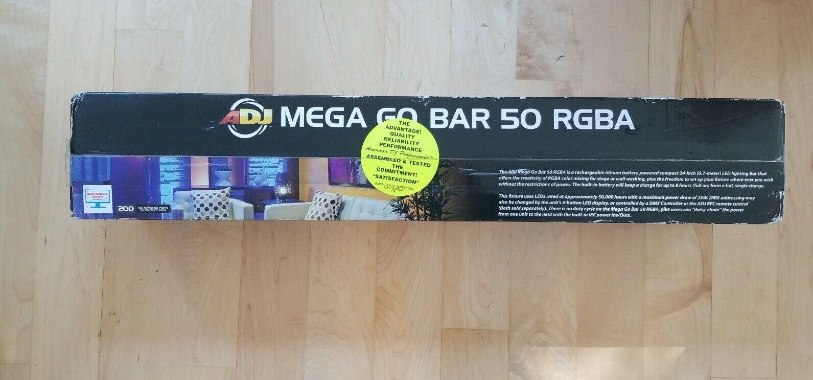 ADJ Mega Stage Light Bar 50 RGB LED Wall Wash Lights Lithium Ion