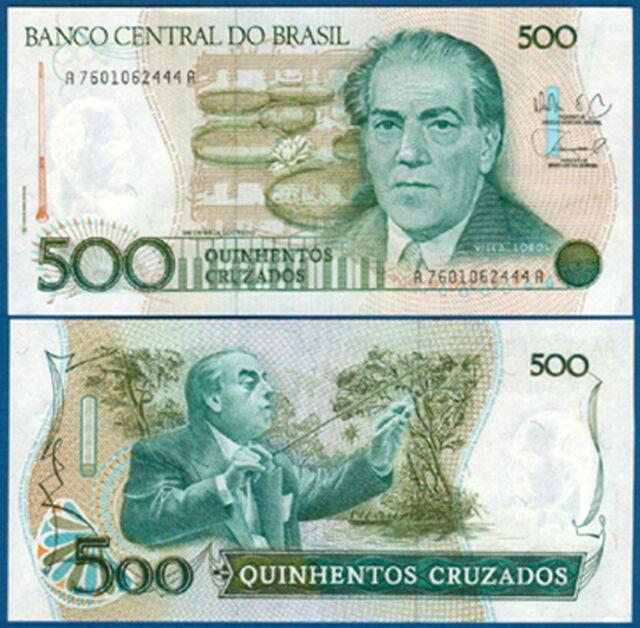 BRASILIEN / BRAZIL 500 Cruzados (1988)  UNC  P.212 d
