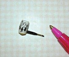 Miniature Nantasy Fantasy Mountain Pipe H (B&W/Style #3): DOLLHOUSE 1/12 Scale
